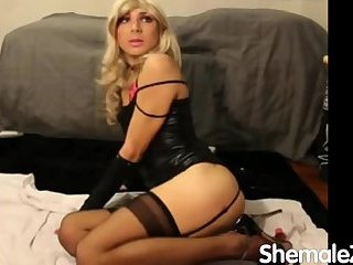 very hot blonde crossdresser