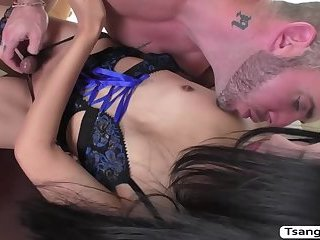 Horny Asian TGirl Fany bangs some dudes tight butthole