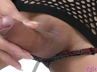 Asian tgirl and nasty dude anal pounding