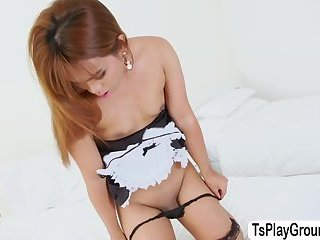 Damn horny ladyboy Pan Bangkok is craving for a big cock