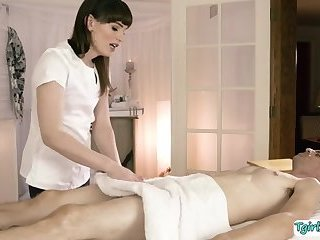 Agent Chad Diamond catches TS Masseuse Natalie Mars and fucks her ass