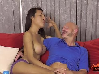 Thai Ladyboy Pornstar Thippys interview with bareback sexy-time ending.
