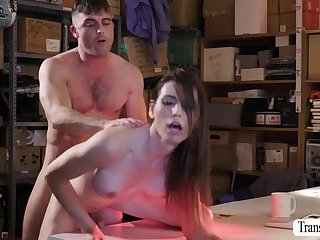 TS boss Korra gets fucked by her hung security guard
