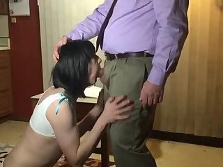 Teacher Fucks Sissy Crosdresser Schoolgirl