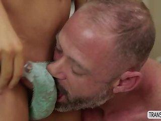 Busty Transgirl Chanel Santini enjoys hardcore anal sex