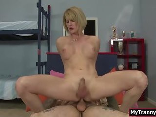 TS stepmom analed by her stepsons cock