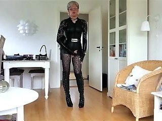 Sissy Ready In Sexy Leather