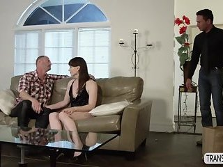 Cute Tgirl Natalie Mars gets caught by her stepson fucking