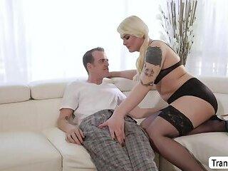 Chad Diamond and Curvy TS Isabella Sorrenti intense anal sex