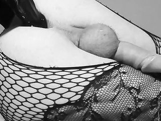 Another sissy CD hands free prostate orgasm dildo cum