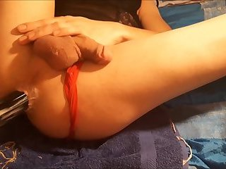 creampie n one continous minute of prostate cumming (2:15)