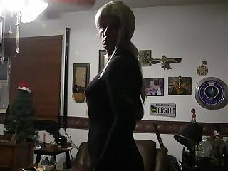 Madeline Black Crotchless Jumpsuit Teaser 01