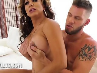 Big tits  trans milf fucks with her stepson
