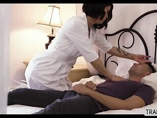TS Domino Presley satisfy her patients cock by riding