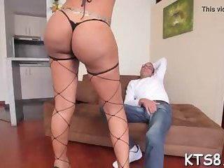 Beauty shemale fuck by a big cock
