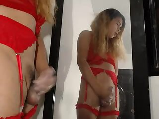 allysexy cum on mirror