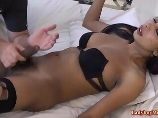 Amateur Ladyboy Shy Sucked And Jerked