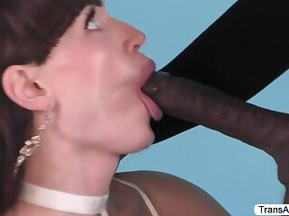 Lovely TS Natalie gets her tight ass fucked by Michael