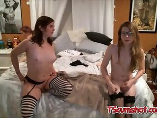Cute tranny threesome sex webcam