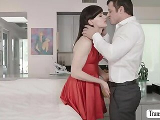 Cute Tgirl Natalie gets her ass rammed hard by her new lover