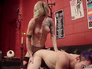 Music nerd anal fucked by tranny colleague