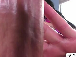 Gorgeous Ts Chanel Santini gets her tight asshole banged hard