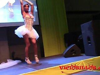 Gladys Trans strip show Valencia 2017