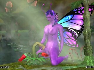 futa butterfly fuck mouth plant