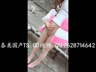 张思妮天台自慰射China's sexy transvestite in tiantai masturbation ejaculation