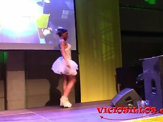 Gladys Trans strip show 2  Valencia 2017