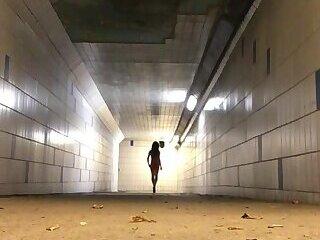 Kathy outdoor exhibition in underground