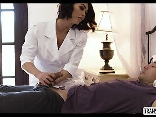 Superstar Tgirl Domino Presley fucking her patient so hard
