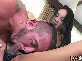 Trans babe plows guys ass