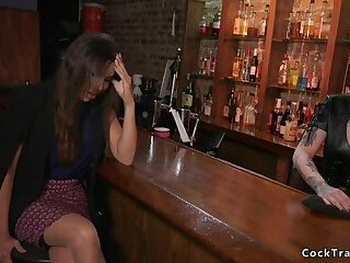 Ts and bartender fucking each other