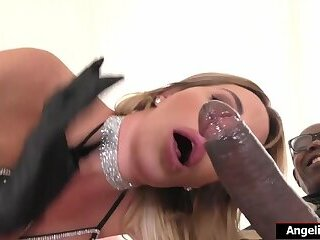 Busty shemale Marissa Minx enjoys anal by a huge black cock