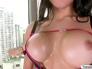 TS Gabriella gets slammed hard by Alex from all angles