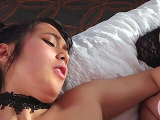 Cute young TS assfucked by her girlfriend