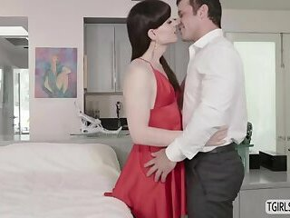 Beautiful shemale Natalie Mars gets a stunning anal sex