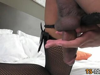 Sexy ladyboy masturbates
