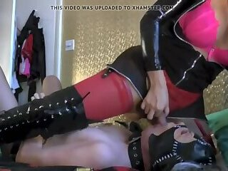 TS Mistress Turns A Guy In Her Slave Whore