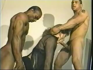 Aja Devoure with 2 men