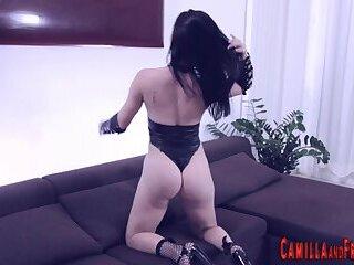 Tran babe fucks dude in the ass