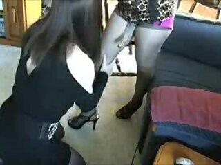 Horny girl fucks crossdresser with strap on