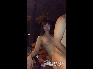 sex chinese shemale street exposed TS女装大佬思妮街头露出调教男奴