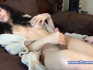 Girl getting hardcore fuck from tranny