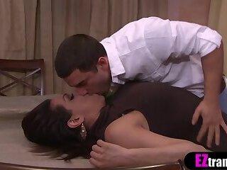 Big booty latina MILF TS stepmom analyzed by stepson