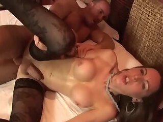 Cute Brunette With Big Tits Gets Some Dick