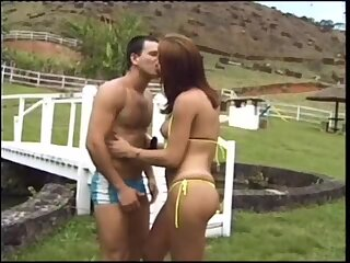 Superstar In Bikini Fucks Outdoor