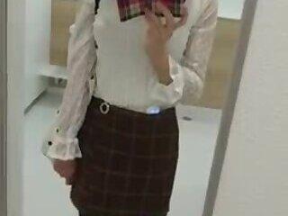 absolutely beautiful crossdresser cums handsfree 4