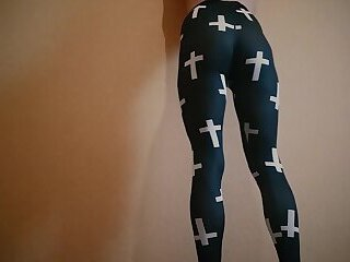 Sexy femboy posing in leggings
